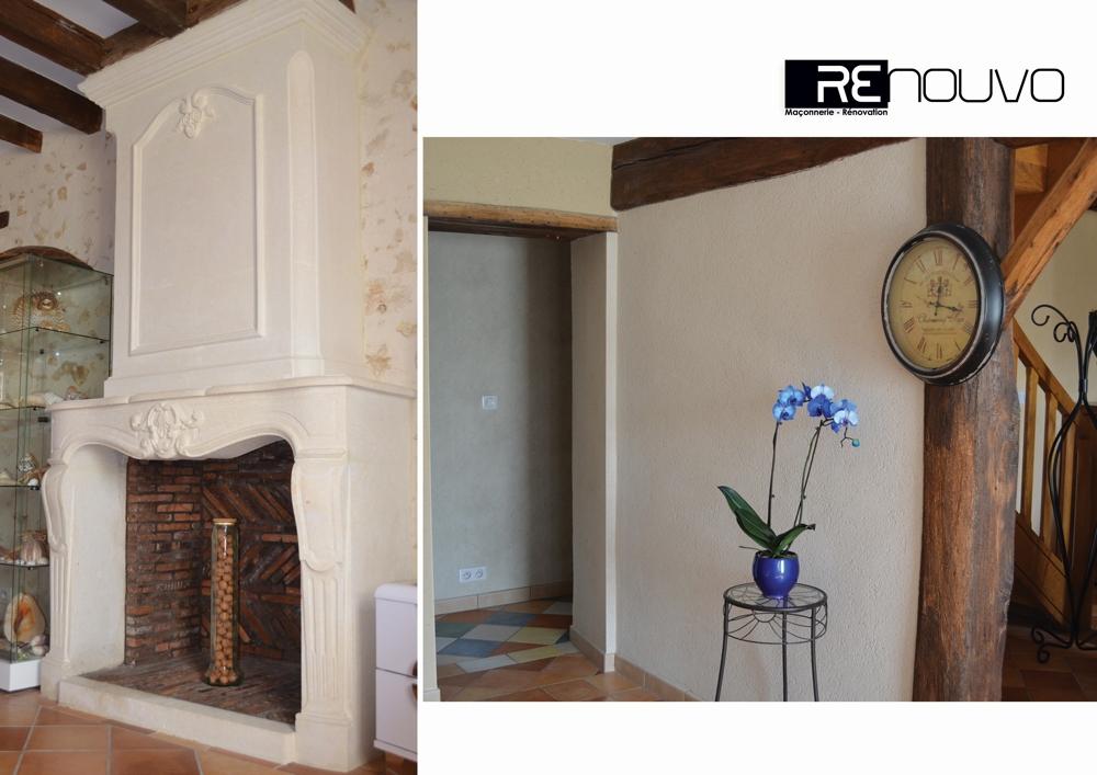 Rénovation d'une cheminée selon techniques traditionnelles