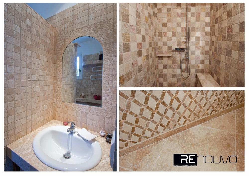 Rénovation d'une salle de bain selon techniques traditionnelles