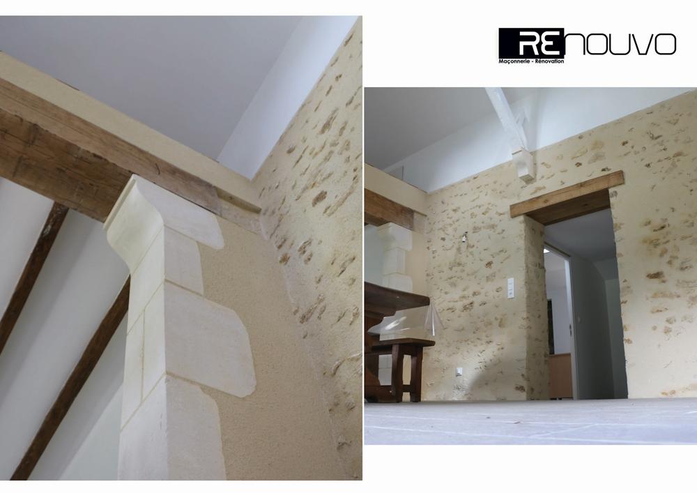 Rénovation d'un mur selon techniques traditionnelles